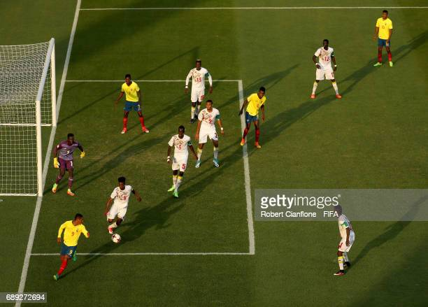 Herlin Lino of Ecuador controls the ball during the FIFA U20 World Cup Korea Republic 2017 group F match between Senegal and Ecuador at Jeonju World...