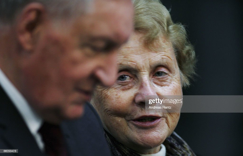 Herlind Kasner (R) and her husband Horst Kasner, parents of incoming German Chancellor Angela Merkel of the Christian Democratic Union (CDU), smile during the voting for the chancellorship at the lower house of parliament, the Reichstag, on November 22, 2005 in Berlin Germany. Her daugther Angel Merkel received 397 of 612 votes and will be the first German female Chancellor