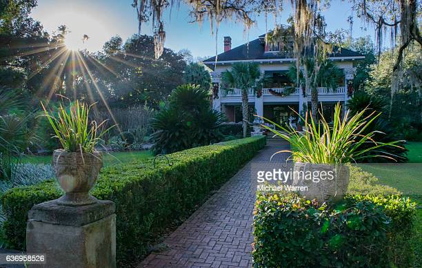 herlong mansion in micanopy, florida - gainesville florida stock photos and pictures