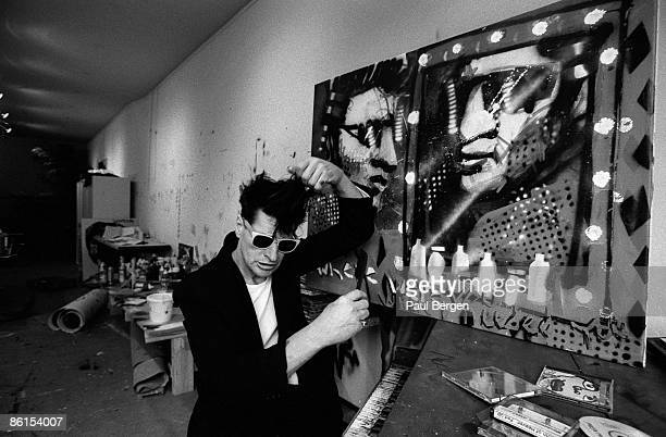 Herman Brood in his Art Studio Amsterdam Holland on April 12 1994