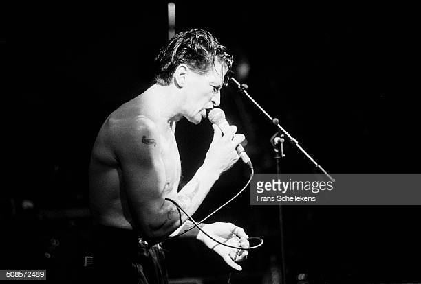 Herman Brood vocal performs at the Paradiso on 26th March 1991 in Amsterdam Netherlands