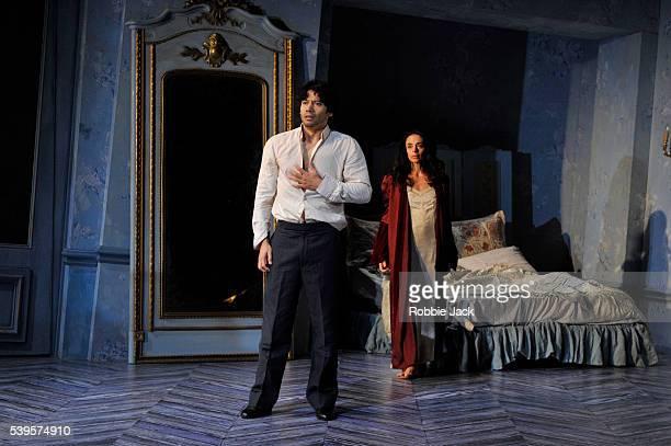 Herman Cornejo as Chéri and Alessandra Ferri as Léa in Martha Clarke's Chéri at the Linbury Studio Theatre Royal Opera House Covent Garden in London