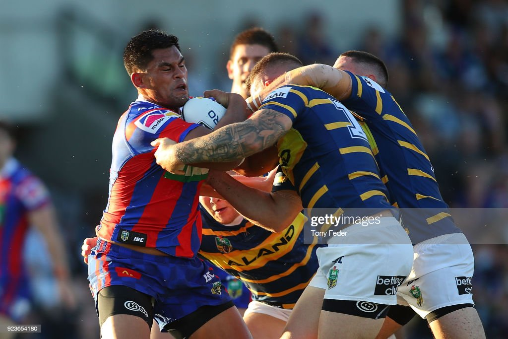 Knights v Eels - NRL Trial Match : News Photo
