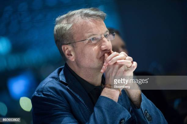 Herman Gref chief executive officer of Sberbank PJSC pauses during an interview in London UK on Thursday Dec 14 2017 Sberbank Russia's most valuable...