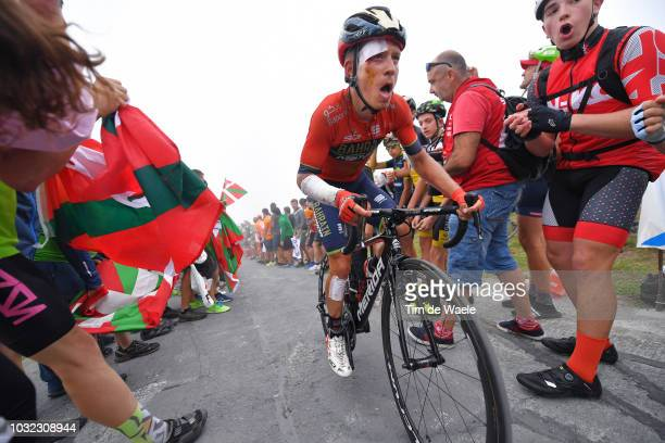 Herman Pernsteiner of Austriaand Bahrain Merida Pro Cycling Team / Injury / Crash / during the 73rd Tour of Spain 2018 Stage 17 a 157km stage from...