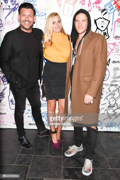 Herman Town 4am gallery owner Lisa Falcone and Gregory Siff attend Gregory Siff Studios and 4AM Gallery Opening at Dream Hollywood on October 10 2017...