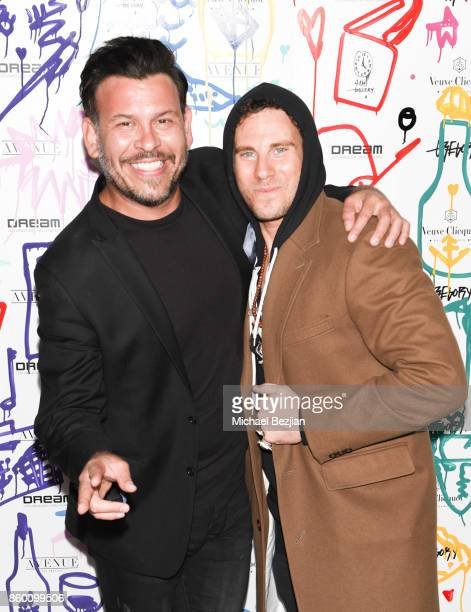 Herman Town and Gregory Siff at Gregory Siff Studios and 4AM Gallery Opening at Dream Hollywood on October 10 2017 in Los Angeles California
