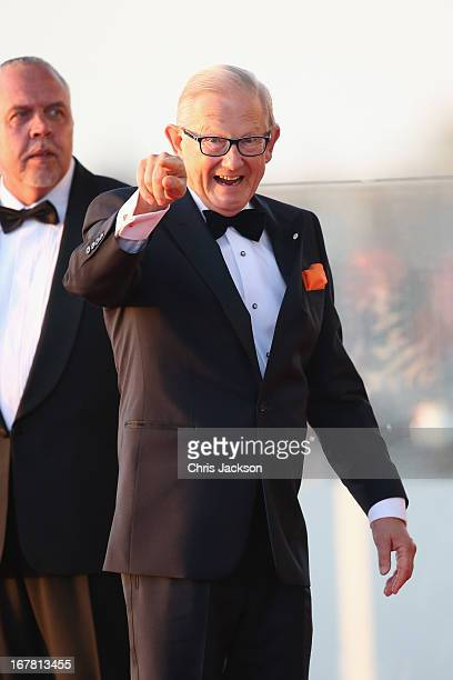 Herman van Rompuy arrives at the Muziekbouw following the water pageant after the abdication of Queen Beatrix of the Netherlands and the Inauguration...