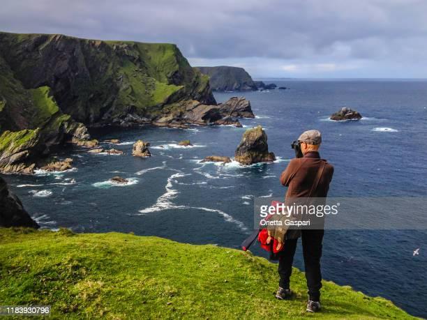 riserva naturale nazionale hermaness, isole shetland, scozia - isole shetland foto e immagini stock