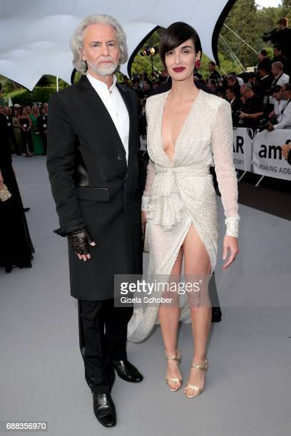 Hermann Bühlbecker and Paz Vega arrive at the amfAR Gala Cannes 2017 at Hotel du CapEdenRoc on May 25 2017 in Cap d'Antibes France