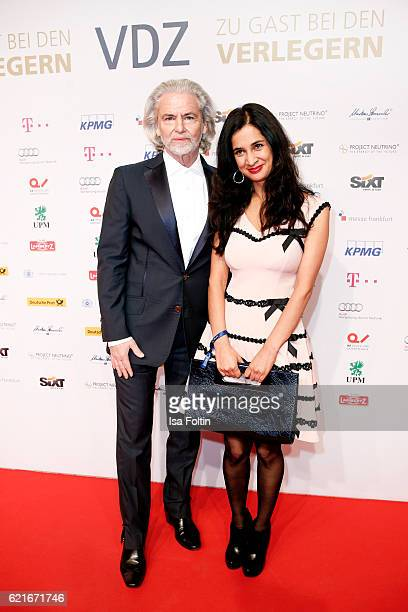 Hermann Buehlbecker and german actress Rabea Rahimi during the VDZ Publishers' Night 2016 at Deutsche Telekom's representative office on November 7...