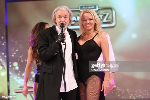 Hermann Buehlbecker and Pamela Anderson during the 20th Lambertz Monday Night 2018 at Alter Wartesaal on January 29 2018 in Cologne Germany
