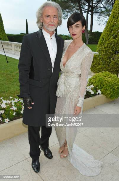Hermann Buhlbecker and Paz Vega arrive at the amfAR Gala Cannes 2017 at Hotel du CapEdenRoc on May 25 2017 in Cap d'Antibes France