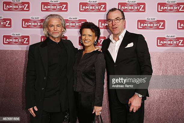 Hermann Buehlbecker, Clemens Toennies and his wife Margit Toennies arrive for the Lambertz Monday Night 2015 at Alter Wartesaal on February 2, 2015...