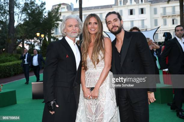 Hermann Buehlbecker Heidi Klum and Tom Kaulitz attend the cocktail at the amfAR Gala Cannes 2018 at Hotel du CapEdenRoc on May 17 2018 in Cap...