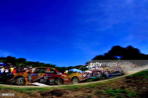 Hermann Gassner Jr and Kathi Wustenhagen of Germany in action during the second and last day of the Rally of Nations Mexico 2009 on July 12 2009 in...