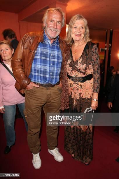 Hermann Giefer and Jutta Speidel during the 'Mirandolina' premiere at Komoedie Bayerischer Hof on June 13 2018 in Munich Germany