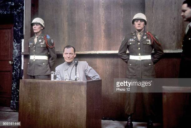 Hermann Goring German marshal and politician Photograph taken in the courtroom during the Nuremberg trials