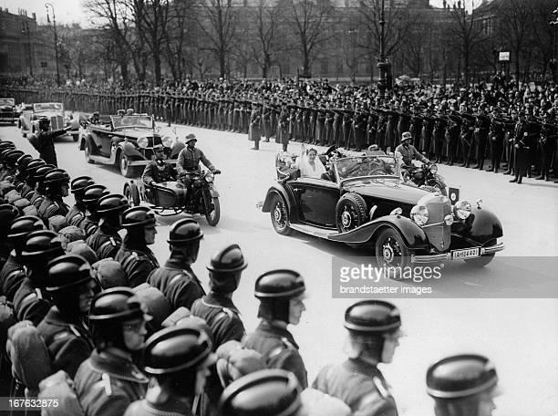 Hermann Göring and his wife Emmy Sonnemann on the way to their wedding in the Berliner Dom April 10th 1935 Photograph Hermann Göring und seine Frau...