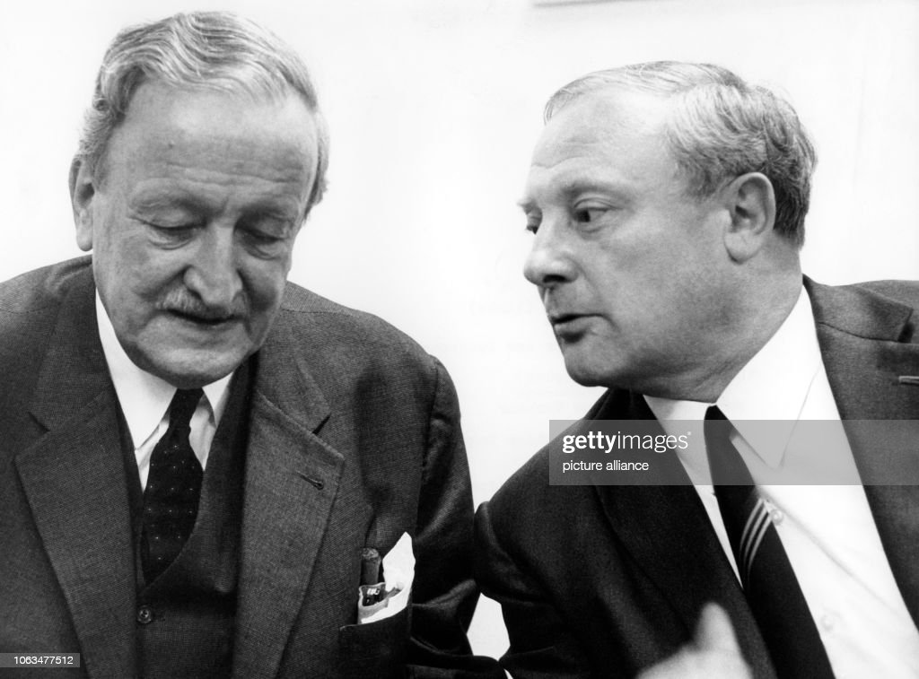 Hermann Josef Abs , chairman of the German Bank and the minister ...