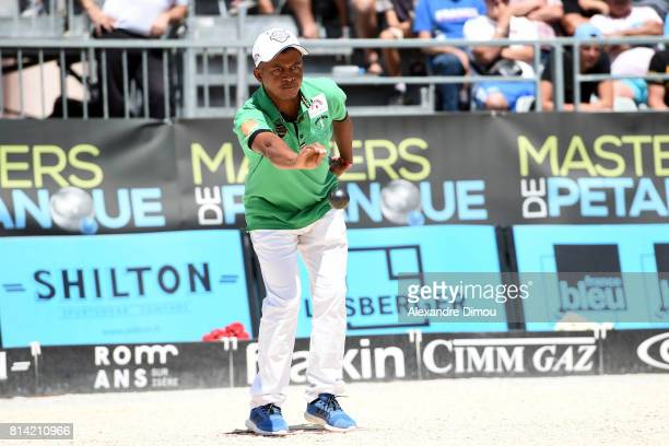 Hermann Luc Rahaingoson Aina competes during the Masters of Petanque 2017 on July 13 2017 in RomanssurIsere France