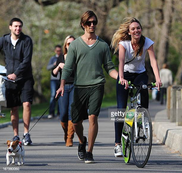 Hermann Nicoli and Candice Swanepoel seen in Central Park on April 24 2013 in New York City