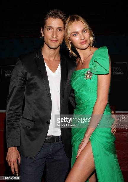 Hermann Nicoli and his girlfriend Top Model Candice Swanepoel attend the Gala Moda Nextel Mexico City 2011 party at the Plaza de Toros on June 4 2011...