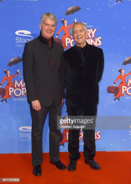 Hermann Reichenspurner and John Neumeier attend Mary Poppins Musical Premiere at Stage Theater an der Elbe on February 25 2018 in Hamburg Germany