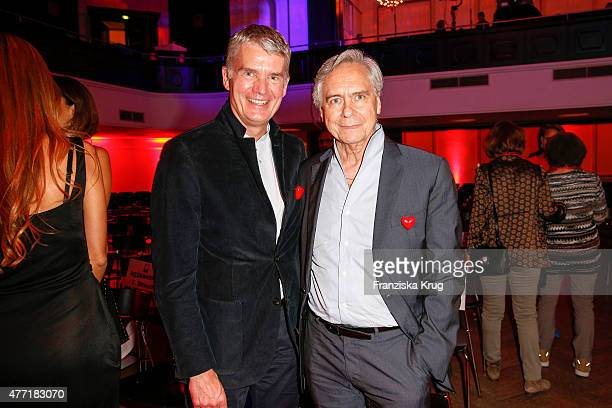 Hermann Reichenspurner and John Neumeier attend the 'Das Herz im Zentrum' Charity Gala on June 14, 2015 in Hamburg, Germany.