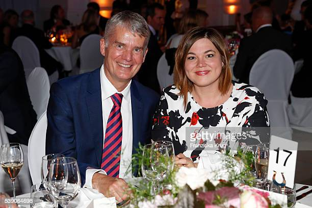 Hermann Reichenspurner and Katharina Fegebank attend the 'Das Herz im Zentrum' Charity Gala on June 9, 2016 in Hamburg, Germany.