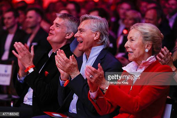 Hermann Reichenspurner, John Neumeier and Edda Darboven attend the 'Das Herz im Zentrum' Charity Gala on June 14, 2015 in Hamburg, Germany.