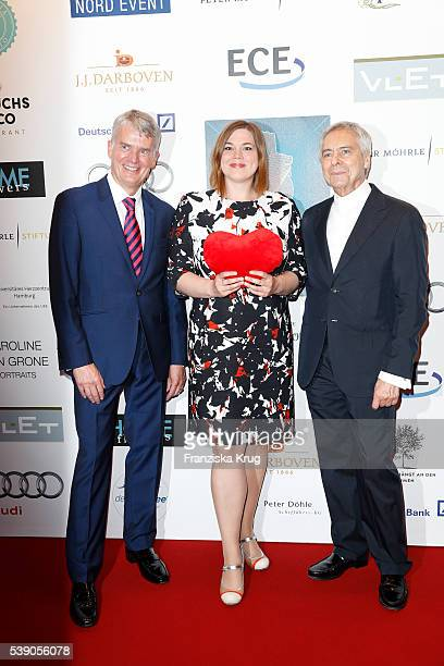 Hermann Reichenspurner Katharina Fegebank and John Neumeier attend the 'Das Herz im Zentrum' Charity Gala on June 9 2016 in Hamburg Germany