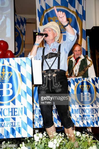 Hermann Reichenspurner performs during the Charity Gala Das Herz im Zentrum at Hofbraeuhas on October 24 2019 in Hamburg Germany