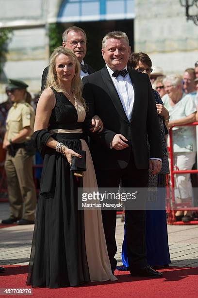 Hermann und Heidi Groehe attend the Bayreuth Festival Opening 2014 on July 25 2014 in Bayreuth Germany