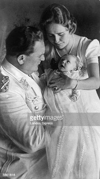Hermann Wilhelm Goering German field marshal commander in chief of the German air force and second most powerful leader of Nazi Germany with his wife...
