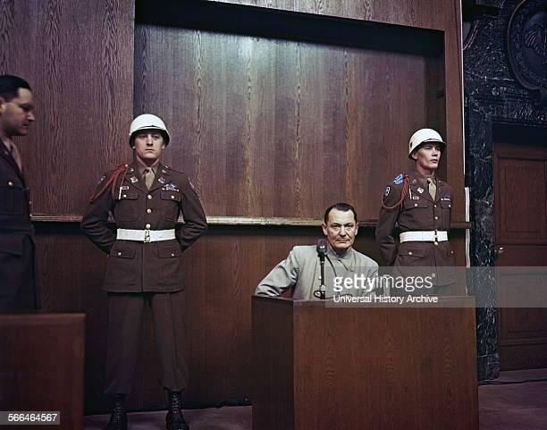 Hermann Wilhelm Göring German politician, of the Nazi Party , on trial at the Nuremburg War Crimes Trials 1946.