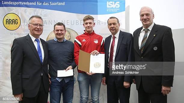 HermannNeubergerPreis JFG SchaumbergPrims Franz Josef Schumann Joerg Fritsch Jan Schuster Klaus Meiser and Dr HansGeorg Moldenhauer awarding ceremony...