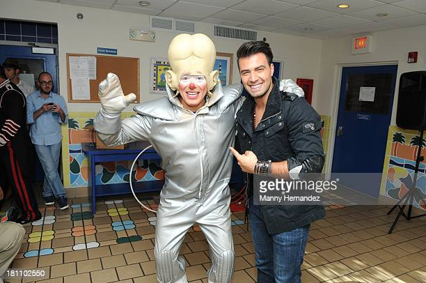 Hermanos Vazquez Circus and Jencarlos Canela visits patients and taping of Tr3s 'Familia de Circo' at Ronald McDonald House at Jackson Memorial...