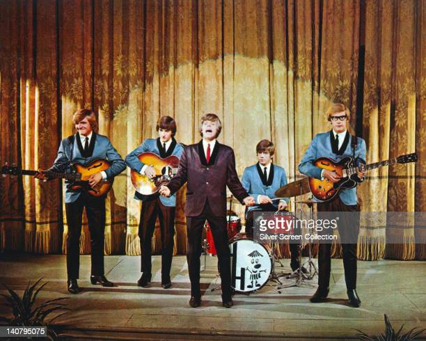Herman's Hermits British pop group on stage during a live concert performance circa 1965