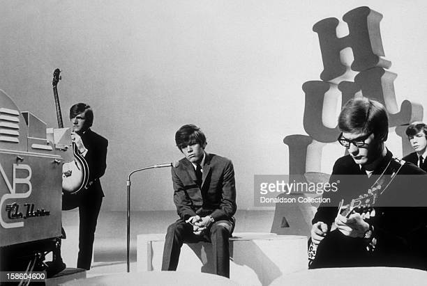 Herman's Hermits perform on the NBC TV music show 'Hullabaloo' in May 1965 in New York City New York