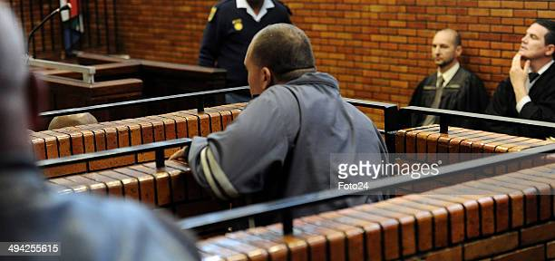 Hermanus Engelbrecht appears at the Springs Magistrate's court on May 28 2014 in Springs South Africa The 36yearold man was arrested for holding his...