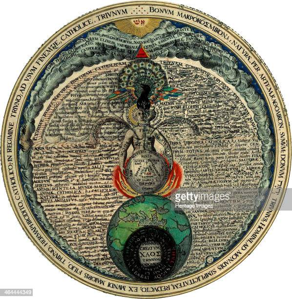 Hermaphrodite 1595 Illustration from the book Amphitheatrum Sapientiae Aeternae by Heinrich Khunrath a work on alchemy From a private collection