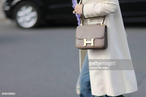 Hermes bag is seen outside the Miu Miu show during Paris Fashion Week Womenswear Fall/Winter 2017/2018 on March 7 2017 in Paris France