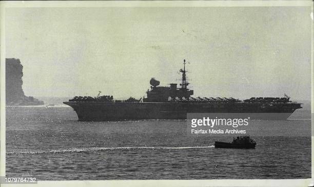 HMS Hermes entering the Heads October 14 1968 Photo by Bob Rice/Fairfax Media via Getty Images