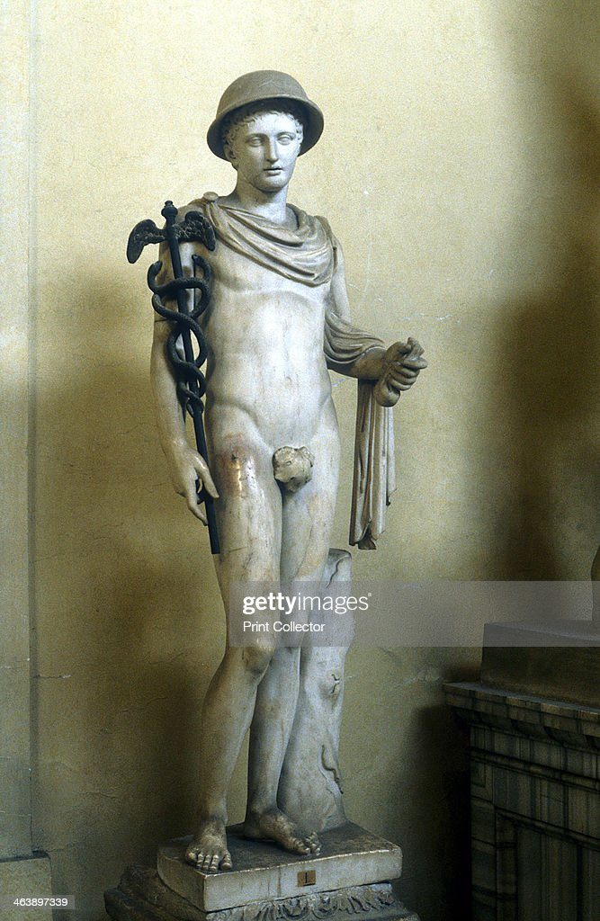 Hermes, Greek god  Marble statue of Hermes , messenger of