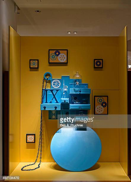 Hermes London Windows Display 2015 as Part of the World Fashion Window Displays on July 22 2015 in London England