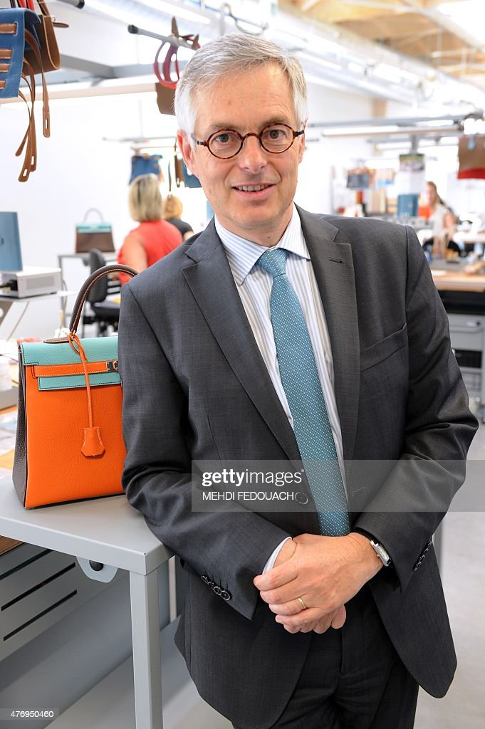 feec3fb357 Hermes Managing Director of leather goods Emmanuel Pommier poses at ...