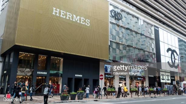 Hermes store Hong Kong.