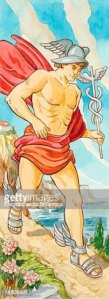 Hermes Was Messenger To The Gods Of Ancient Greece Often Sent On Errands For Zeus Roman Mythology Associated Him With Mercury