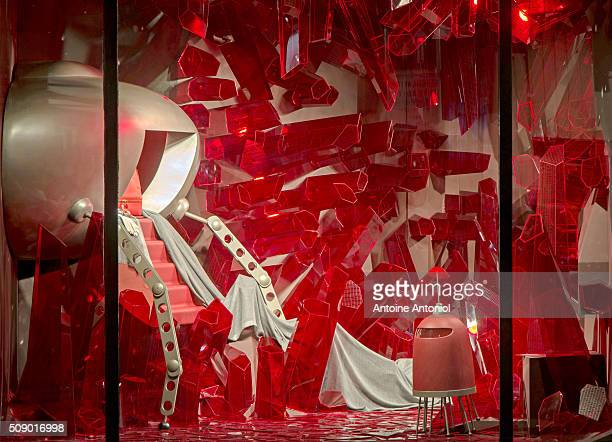 A Hermes window is seen as part of the World Fashion Window Displays on February 5 2016 in Paris France